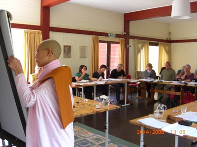 Daw Yuzana teaching in Naarden